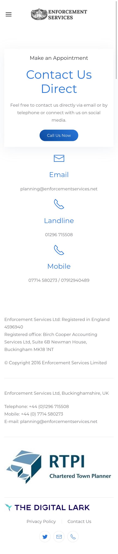 Enforcement Services Website