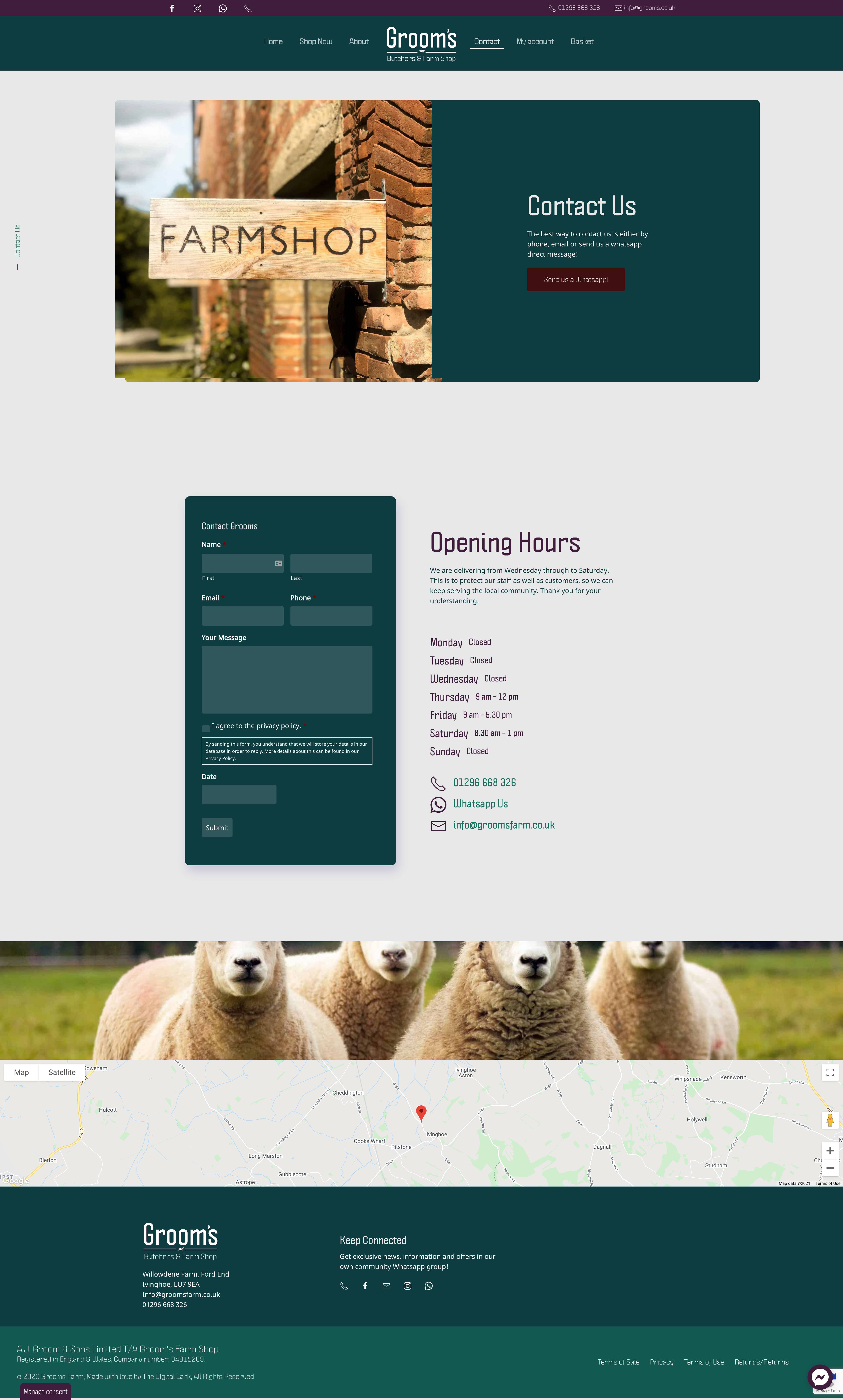 Grooms Farm Shop Website