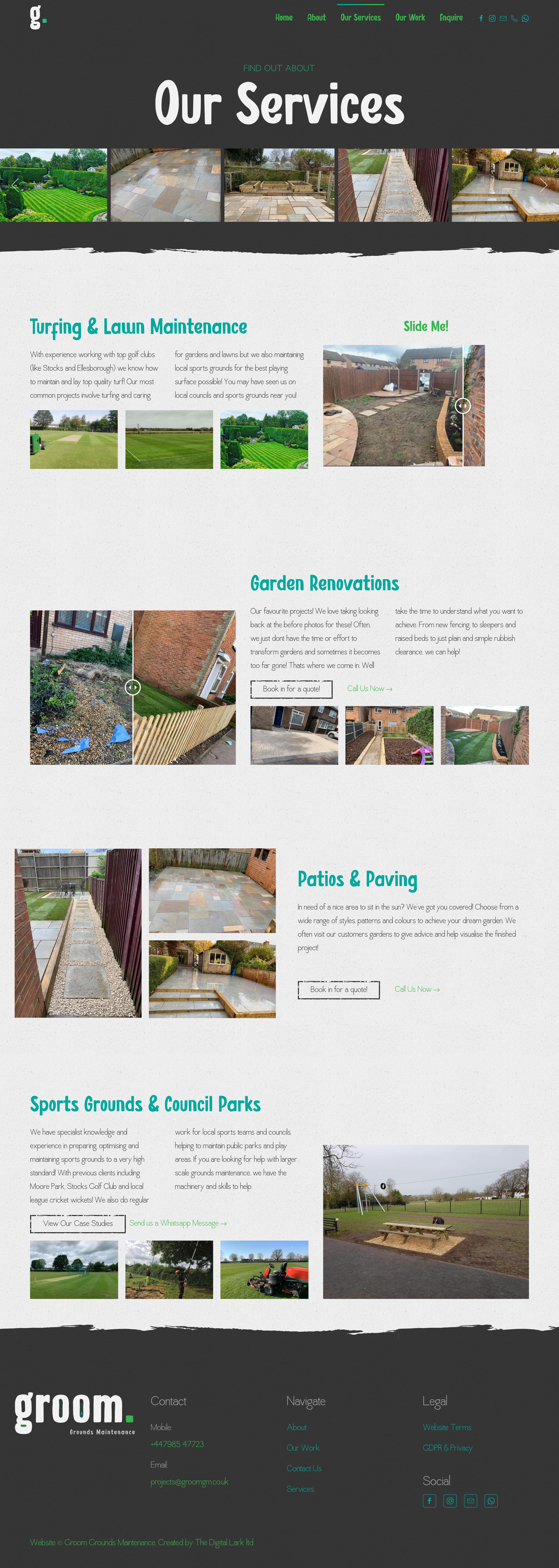 Groom Grounds Maintenance Website