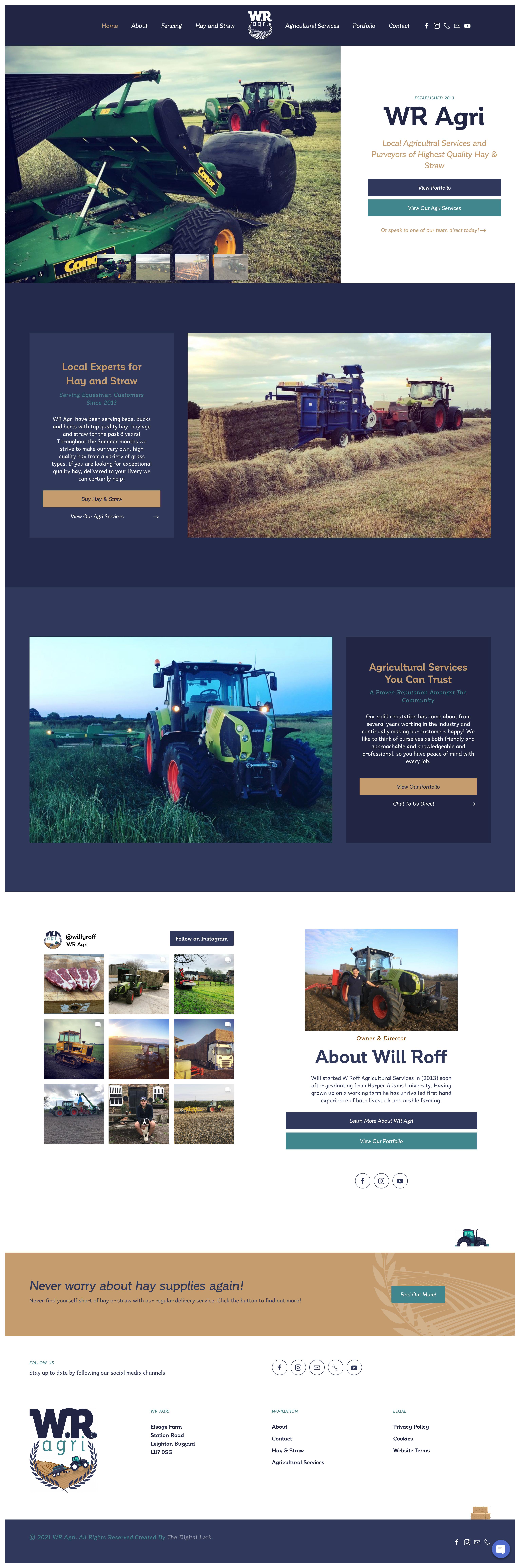 WR Agri Website